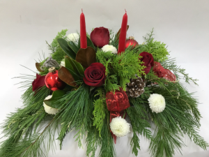 Classic Christmas  Centerpiece  in Goderich, ON | LUANN'S FLOWERS & GIFTS