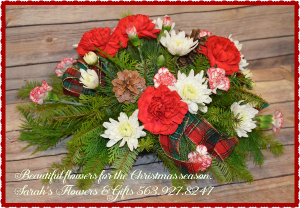 Classic Christmas Centerpiece  in Manchester, IA | SARAH'S FLOWERS & GIFTS