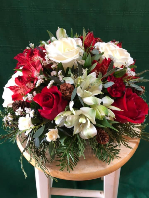 Classic Christmas Centerpiece in Bristol, VT | Scentsations Flowers & Gifts