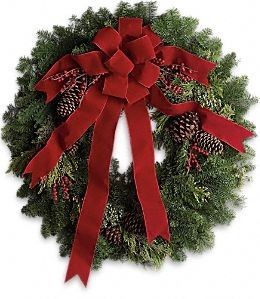 Classic Christmas Wreath  in Springfield, IL | FLOWERS BY MARY LOU INC