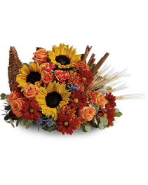 Classic Cornucopia By Geno's Flowers  One sided