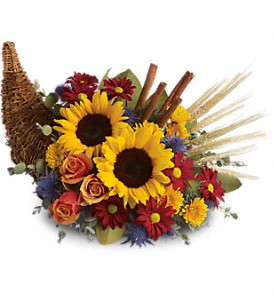Classic Cornucopia Fall in Princeton, TX | Princeton Flower and Gift Shop