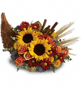 Classic Cornucopia  Fall  in Allen, TX | Lovejoy Flower and Gift Shop