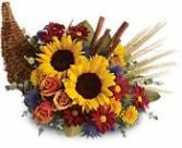 Classic Cornucopia Fall & Thanksgiving Flowers