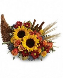 Classic Cornucopia Fresh Arrangement