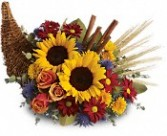 Classic Cornucopia Fresh Fall & Thanksgiving Flowers