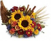 Classic Cornucopia Fresh Fall & Thanksgiving Flowers