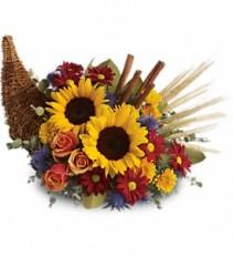 Fall* Classic CornucopiaT168-3A Fall Flowers