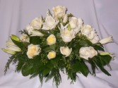 Classic Cream- Funeral Home Flower Delivery Prince George BC. Casket Flowers Prince George BC