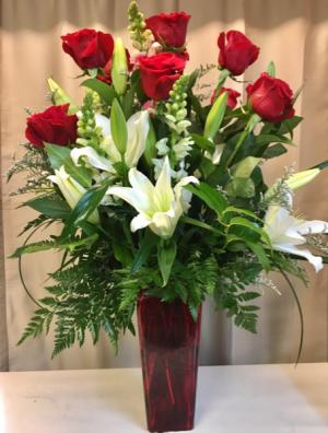 Classic Divine Heart Rose Bouquet in Edgewood, TX | Angelic Garden Florist
