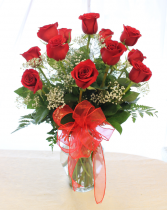CLASSIC DOZEN LONG STEM RED ROSES