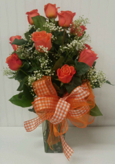 Classic Dozen of Orange Roses