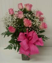 Classic Dozen of Pink Roses