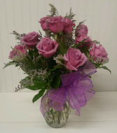 Classic Dozen of Purple Roses