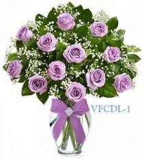 Classic Dozen Purple Floral Arrangement