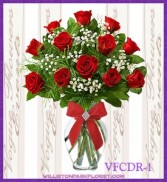 Classic Dozen Red Floral Arrangement