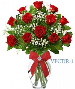 Classic Dozen Red Floral Arrangement