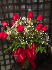 Classic Dozen  Red Rose Arrangement