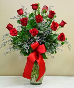 DOZEN RED ROSES Arrangement of Flowers in Riverside, CA | Willow Branch Florist of Riverside