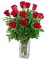 Classic Dozen Red Roses Flower Arrangement