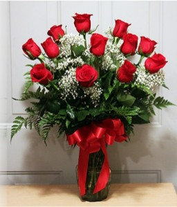 Classic Dozen Red Roses Premium Red Roses Arrangement in Catonsville, MD | BLUE IRIS FLOWERS
