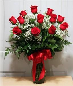 Classic Dozen Red Roses Premium Red Roses Arrangement