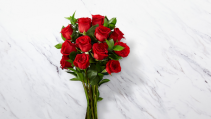 Classic Dozen Red Roses Wrapped Roses