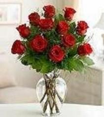 Classic Dozen Rose Arrangement Valentines