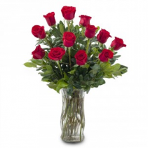 Classic Dozen Roses 1 dozen red roses arranged classically in a beautiful vase