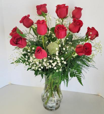 Classic Dozen Roses 12 Red Roses