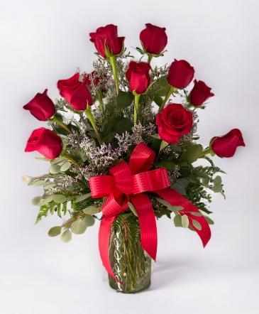 Classic Dozen Roses Bouquet