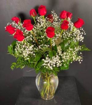 Classic Dozen Roses Red Rose Arrangement in Valhalla, NY | Lakeview Florist