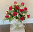 Classic dozen roses with chocolate Vase