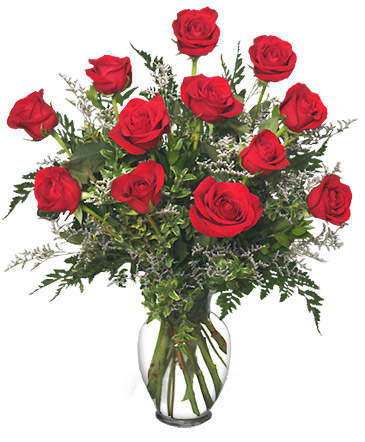 Classic Dozen Roses Red Rose Arrangement In Peterstown Wv Hearts