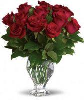 Classic Elegance Fresh Rose Arrangement