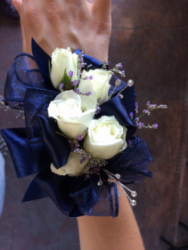 Classic Elegance  Spray Rose and Ribbon Corsage