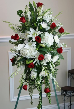 Classic Elegance Standing Spray  in Ozone Park, NY | Heavenly Florist