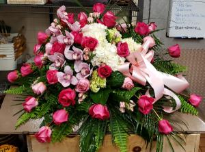 Classic Elegance Tribute Casket Spray in Port Huron, MI | CHRISTOPHER'S FLOWERS