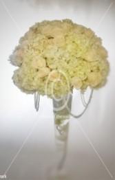 Classic Elegance White Flowers  Wedding Centerpiece