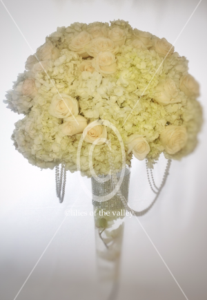 Classic Elegance White Flowers  Wedding Centerpiece   in Forest Hills, NY | FOREST HILLS LILIES OF THE VALLEY