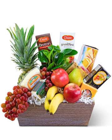 Classic Fruit and Cheese Basket Gift Basket