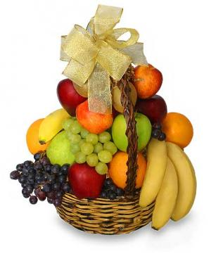 Classic Fruit Basket Gift Basket in Farmingville, NY | Ribbons & Roses