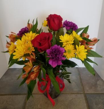 Classic Garden Vase Flower Arrangement