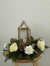Classic Golden Lantern Floral Design