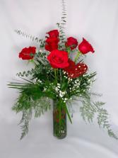 Classic Half Dozen Long Stemmed Red Roses