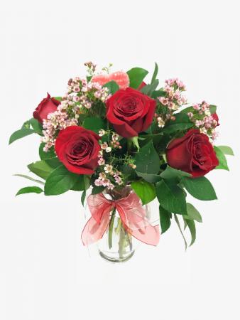 Classic Half Dozen Rose Arrangement