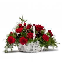 Classic Holiday Christmas Basket