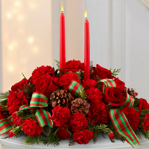 Classic Holiday Centerpiece Fresh Flowers in Cleveland, TX | EASY STREET FLORIST