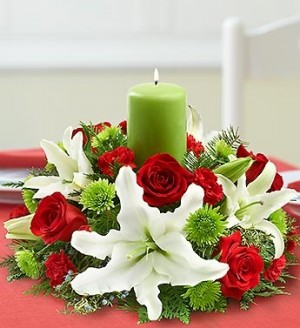 Classic Holiday Centerpiece  in Oakdale, NY | POSH FLORAL DESIGNS INC.
