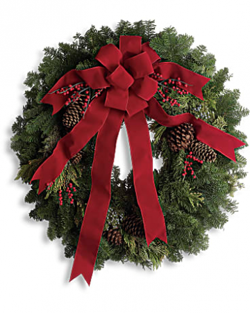 Classic Holiday Wreath Christmas arrangement
